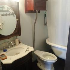High tank toilet