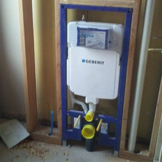 wall mounted toilet rough in