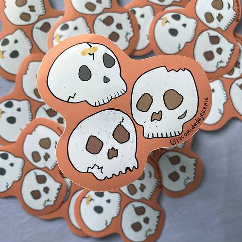 tres cocotazos sticker