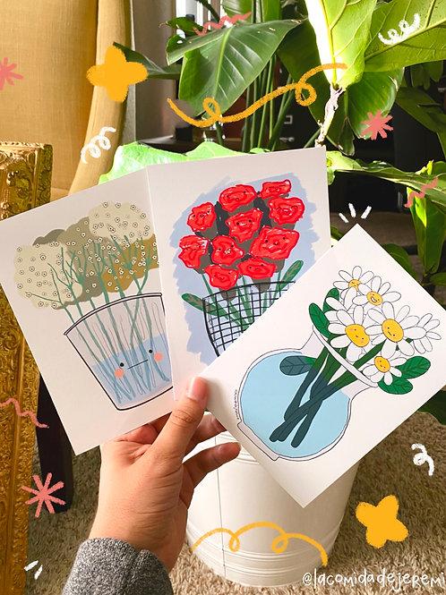 flowers print set