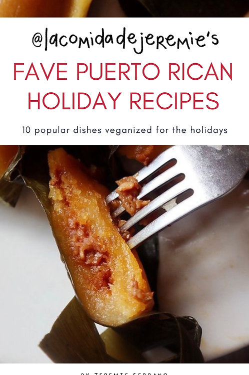 jeremie's fave puerto rican holiday recipes: e-book