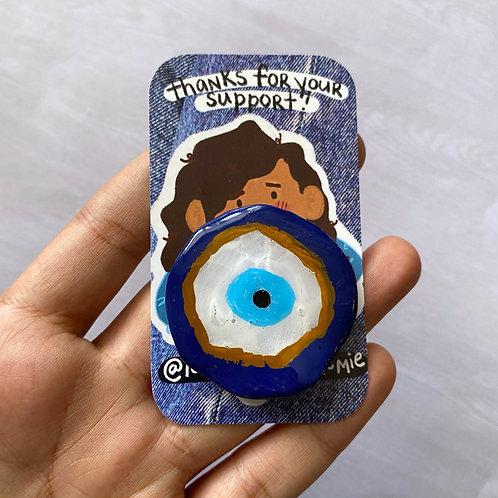 evil eye clay pin