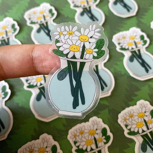 daisy friends clear sticker