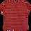 Thumbnail: T-shirt Evase listras vermelha