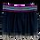 Thumbnail: Saia tule preta com elastico arco-iris