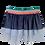 Thumbnail: Saia tule cinza com elastico arco-iris