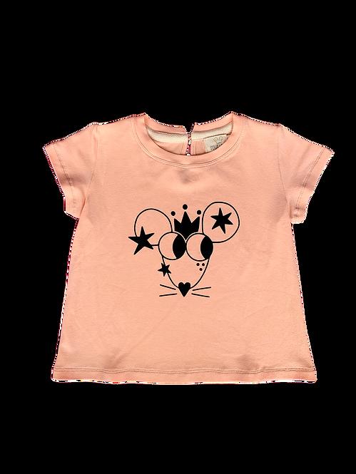 T-shirt Evase Souris rose