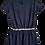 Thumbnail: Vestido azul com fita prata