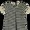 Thumbnail: T-shirt evase cinza listras com bordado