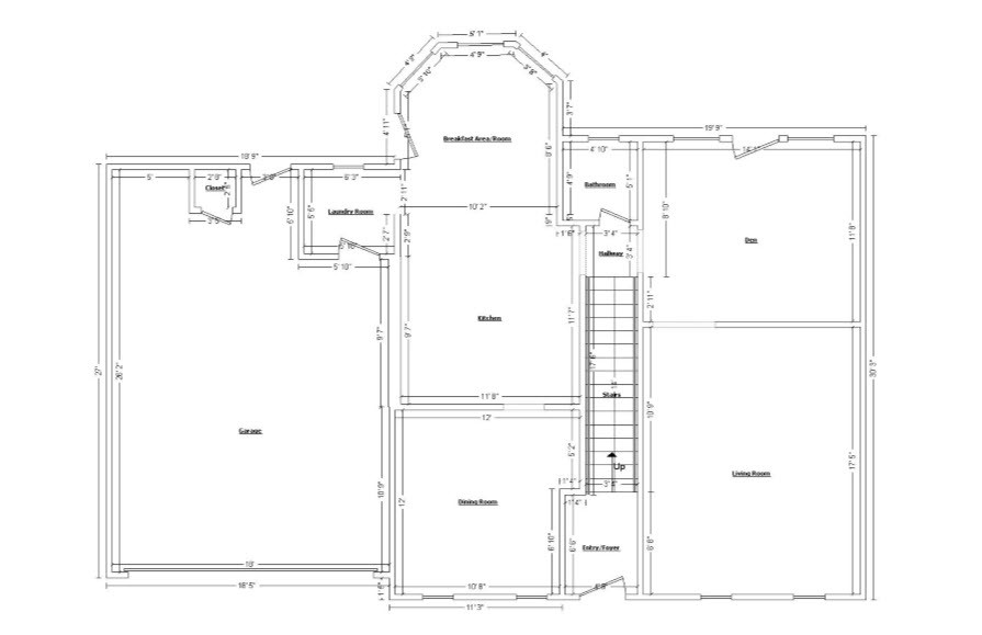 Floor plan in Sketch