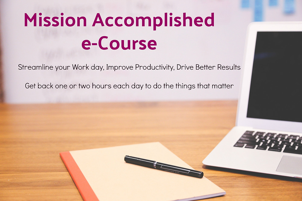 Mission Accomplished, Streamline, Achieve my goals, Timanagement, Course, Executives, managers, Boston, online