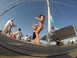 Baila en la cubierta