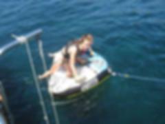 Actividades acuáticas duante la excusiones en velero