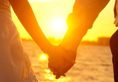 Romántica puesta de sol