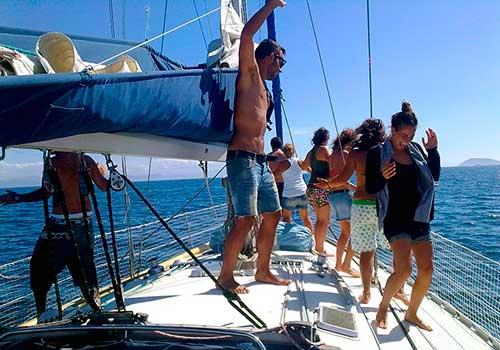 Navega durante la fiesta