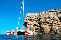 Excursión en catamarán en Menorca