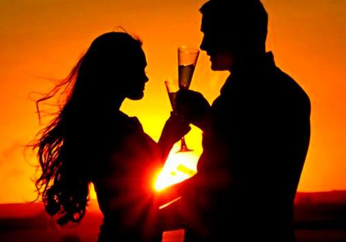 Atardecer romántico