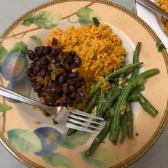 Cuban black beans for the vegetarians