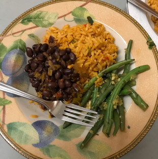 Cuban black beans for the vegetarians