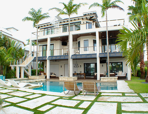 Custom Home Builder Backyard pool by Scott Eason of Eason Builders Group Longboat Key