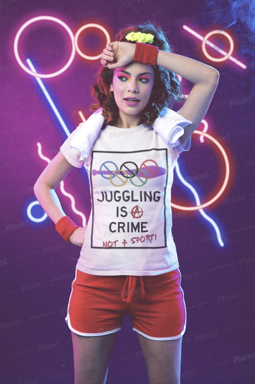 JUGGLING IS A CRIME Tee shirt