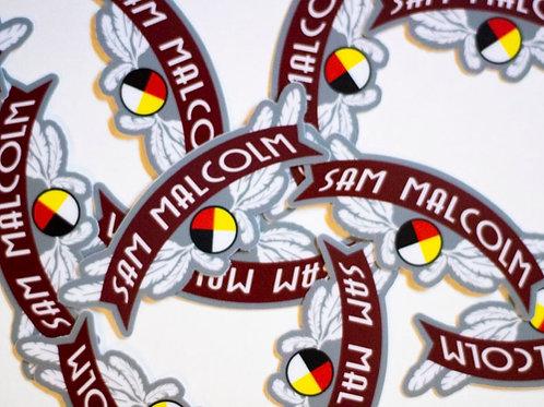Sam Malcolm Native Pride Logo Large Sticker