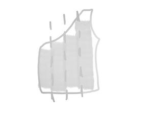 schéma découpe top one shoulder