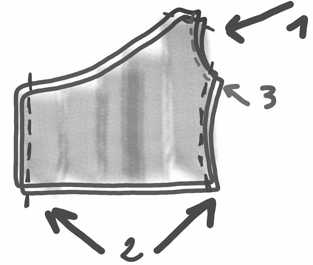 schéma tuto couture top one shoulder