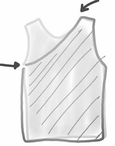schéma tuto top one shoulder