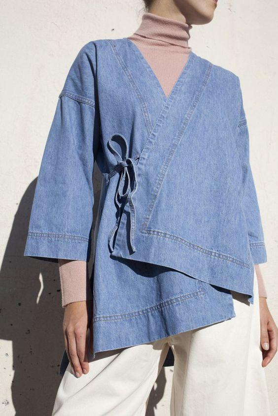 kimono destructuré jean