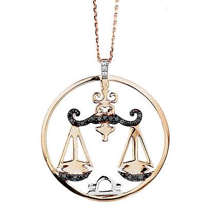S&A Diamond Pendant - Zodiac Libra