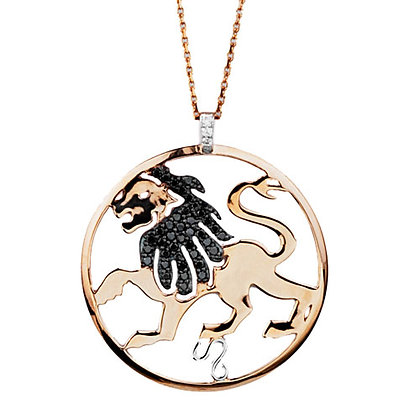 S&A Diamond Pendant - Zodiac Leo