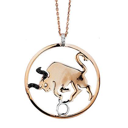 S&A Diamond Pendant - Zodiac Taurus