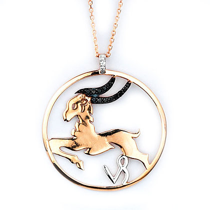 S&A Diamond Pendant - Zodiac Capricorn