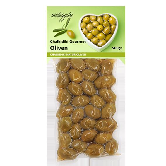 Grüne Chalkidiki Oliven