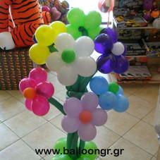 κατασκευή μπουκέτου λουλουδιών