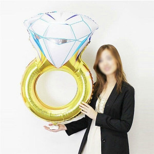 Μπαλόνι χρυσό Mονόπετρο