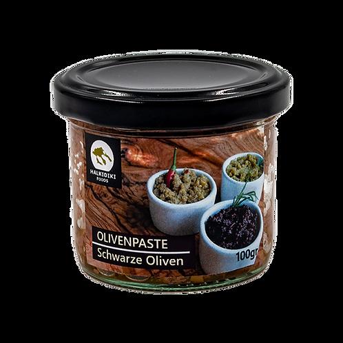 Schwarze Olivenpaste 100g Glas