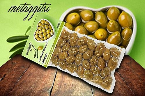 Grüne Halkidiki Oliven 250g Vakuum