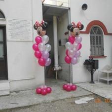 μπουκέτα μπαλονιών με φάτσα Minnie
