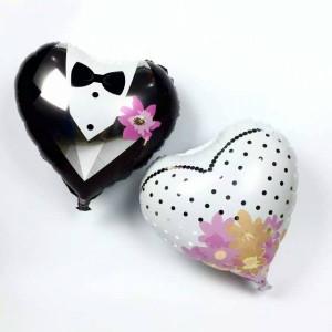 Μπαλόνι γάμου Καρδιά Γαμπρός-Νύφη