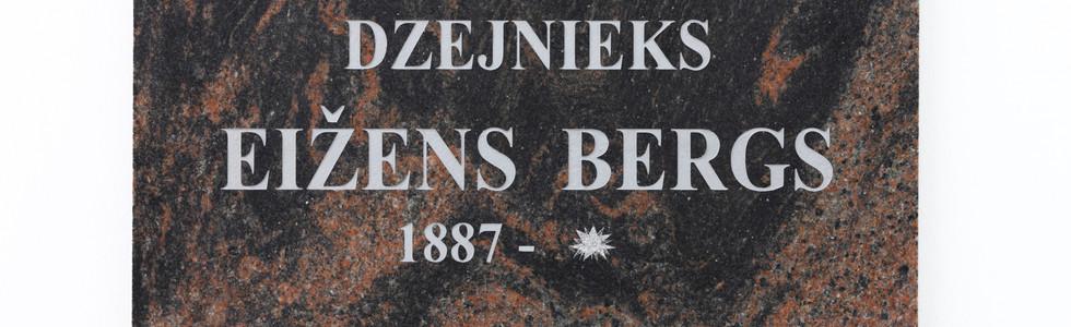 Memorial plate of the poet E. Bergs