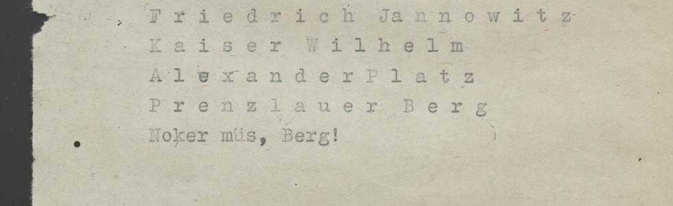 BERLĪNES LIEPAS (LINDEN OF BERLIN)