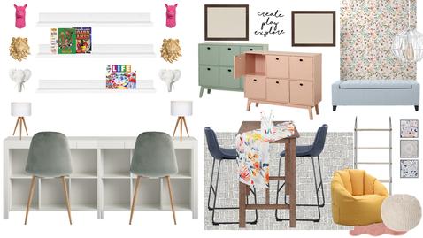 Colorful Play & Homework Room