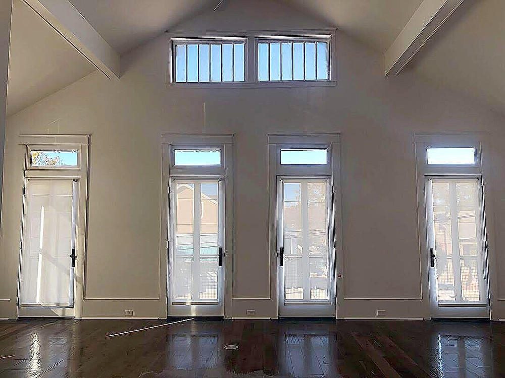 French doors in apartment