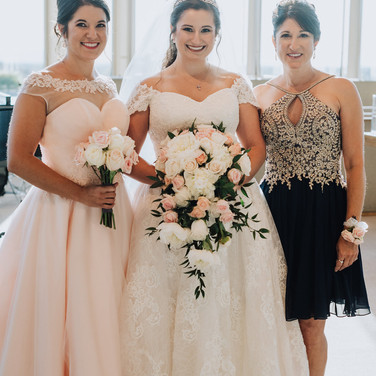 Bride + MOH + Mother of the Bride
