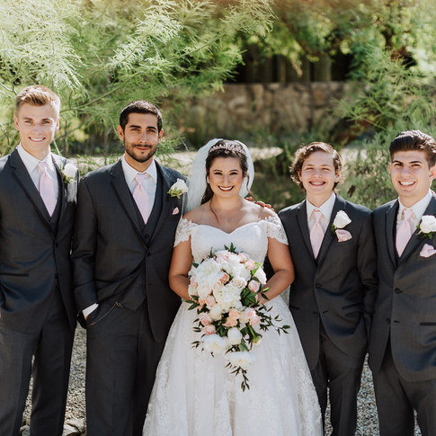Bride + groomsmen
