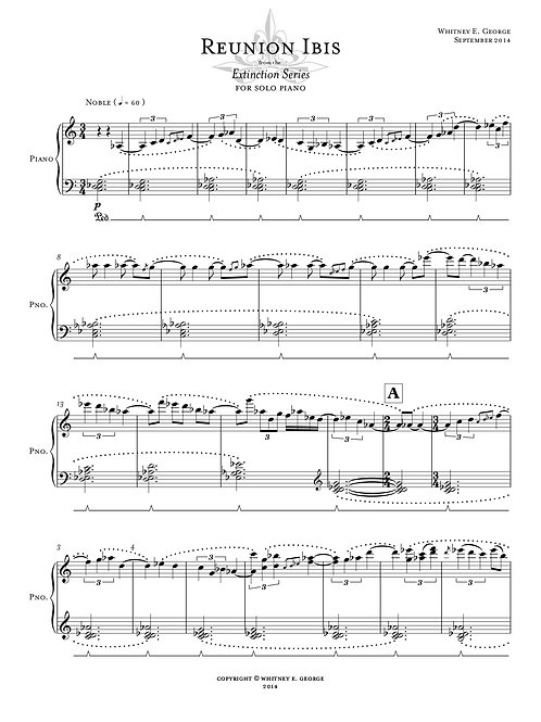 Reunion Ibis from The Extinction Series (solo piano)