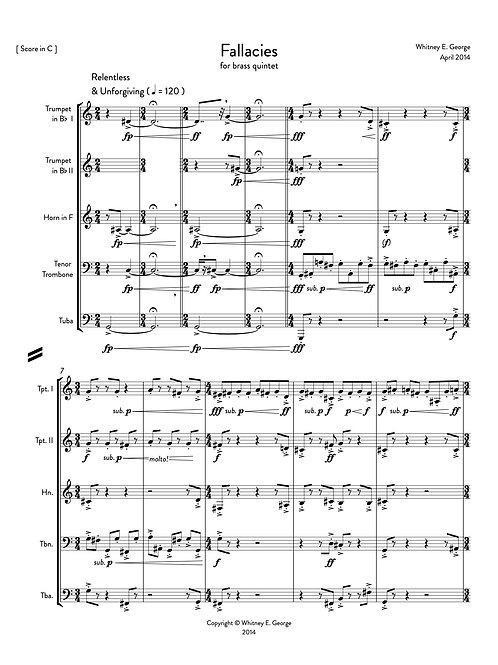 Fallacies for Brass Quintet