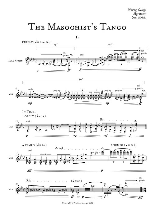 The Masochist's Tango